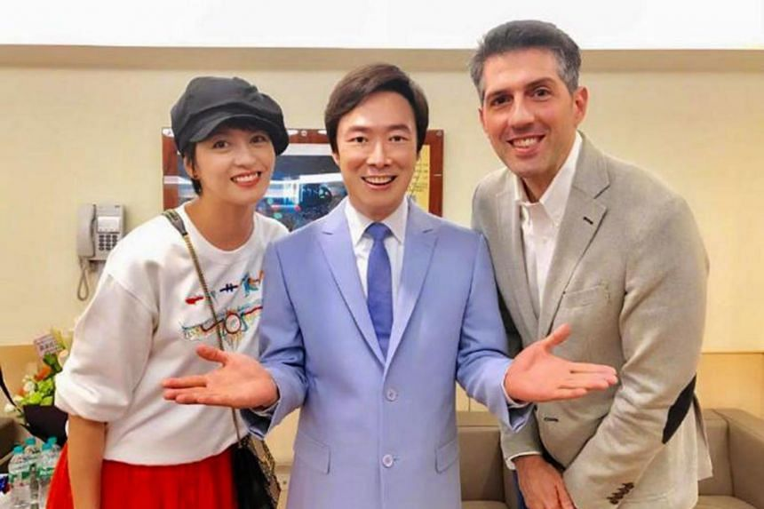 Gigi Leung and her husband Sergio Crespo Gutes went to Taiwan earlier this week to attend Fei Yu-ching's concert.