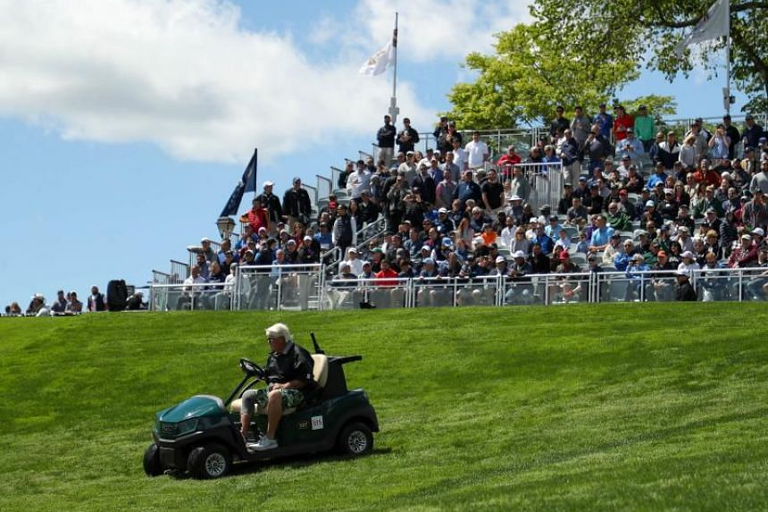 John Daly, who has an arthritic right knee, was granted permission to ride under the Americans with Disabilities Act, even though there are no cart paths at Bethpage, a walking-only public course.