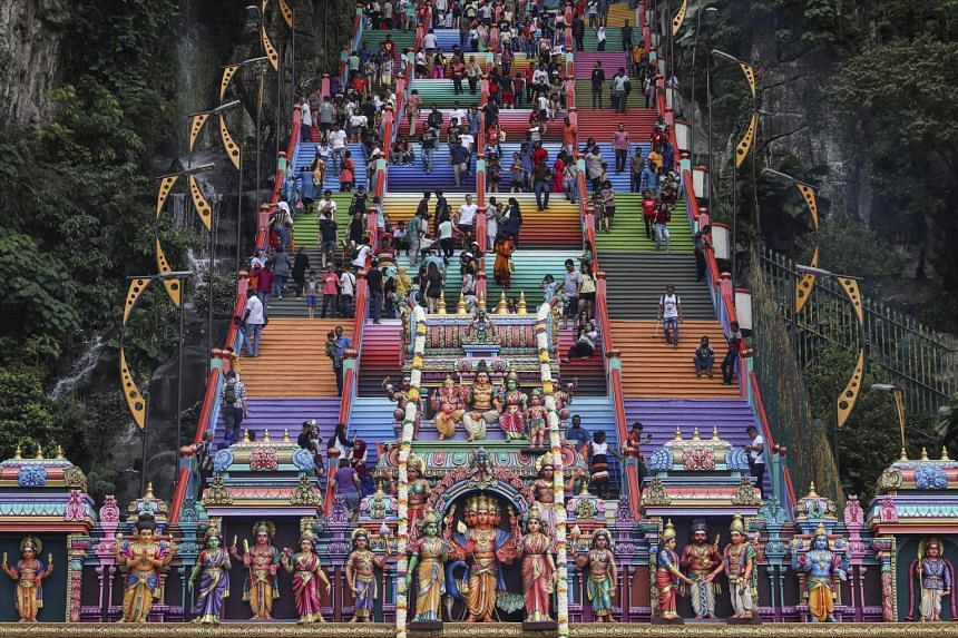 Three Hindu temples in Kuala Lumpur, including the Batu Caves temple (above), have beefed up security.