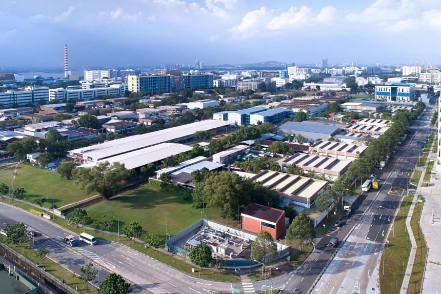 An aerial view of Woodlands Industrial Park E.