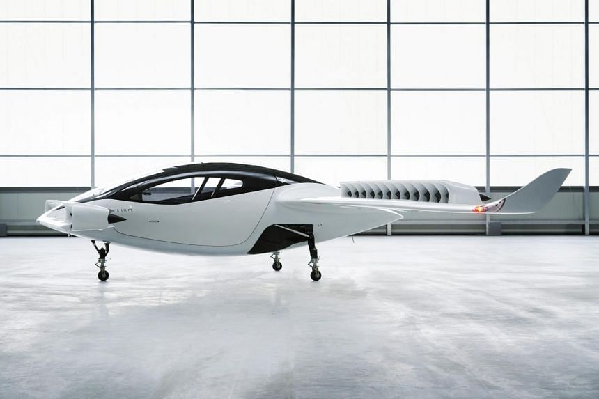 Lilium's five-seat aircraft will have a 300km range, and can operate with a pilot or in drone mode. It will be five times faster than a car and less noisy than a motorbike.