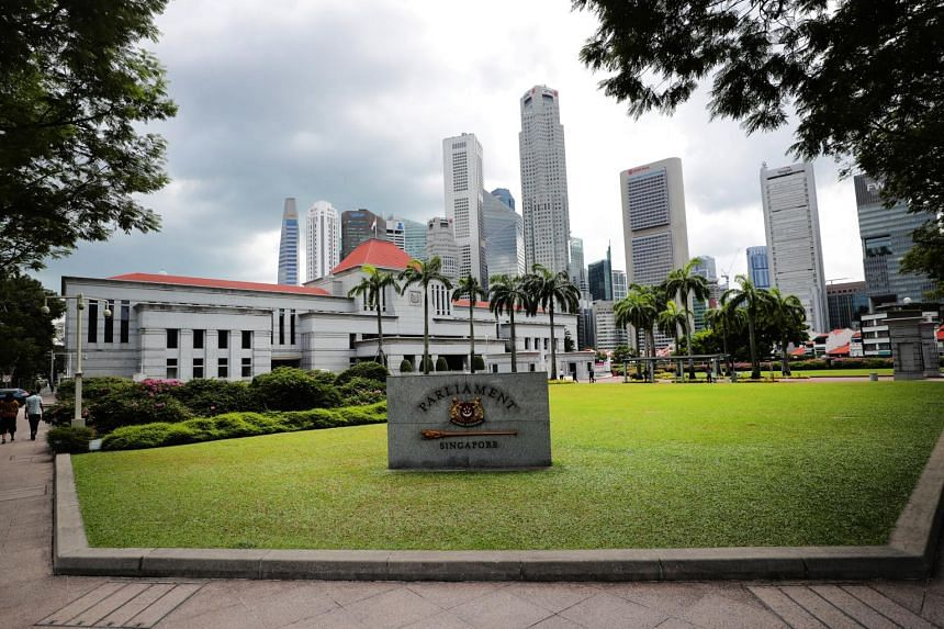 Singapore's Parliament House located in the civic district.