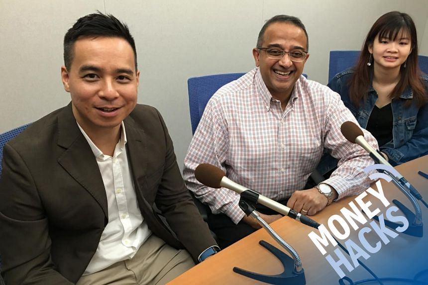(From left) In this sponsored Money Hacks podcast aimed at millennials and students wanting to achieve immediate life goals, Chris Lim hosts Vasu Menon, OCBC Bank's Senior Investment Strategist, Wealth Management Singapore and 19-year-old Lim Li Sh