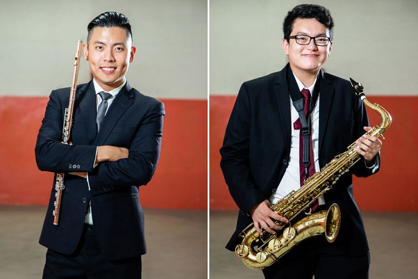Flautist Rit Xu (left) and saxophonist Bryan Lawrence de Rozario (right) will play in the finale concert.
