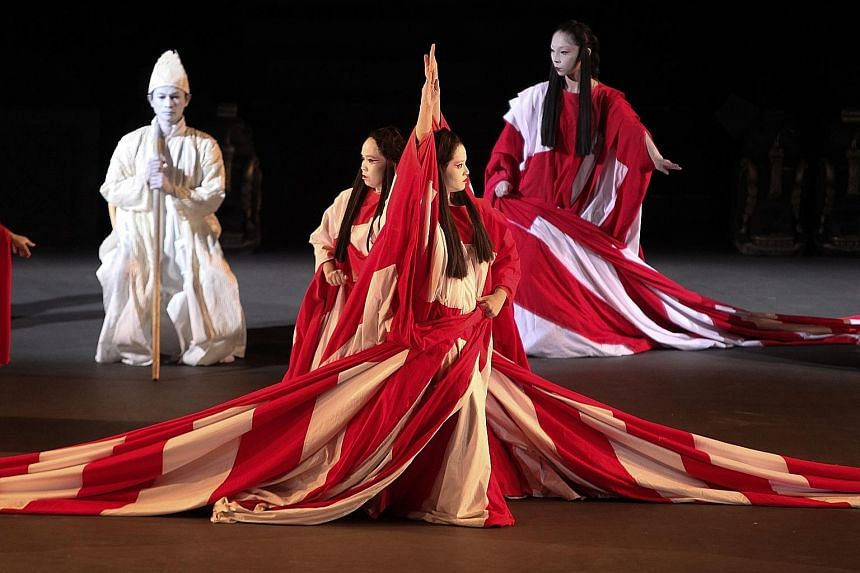 Director Tadashi Suzuki is staging Dionysus (above), an adaptation of a 2,000-year-old classic by playwright Euripides for the Singapore International Festival of Arts.