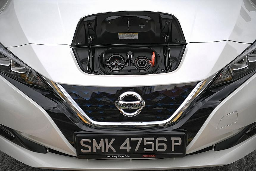 The second-generation Nissan Leaf is zippy on the road, even in efficient Eco mode.