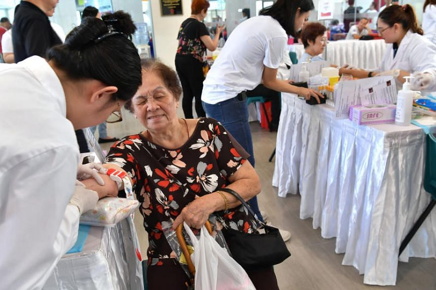 The event at Teck Ghee Community Club was organised by #Checked Movement, a charity started this year to promote early cancer detection, together with the active ageing committees of the two constituencies.