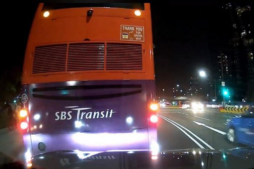 Facebook user Clement Goh had posted footage of the bus reversing into the car, claiming that the bus had made a wrong turn, reversed into his wife's car and then driven off.