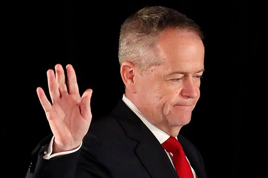 Australian opposition Labor leader Bill Shorten concedes defeat at the Federal Labor Reception at Hyatt Place Melbourne on May 18, 2019.