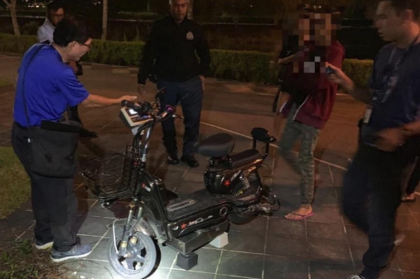 More than 60 plainclothes officers, including those from LTA, the police and National Parks Board, were involved in the enforcement operation in Punggol.