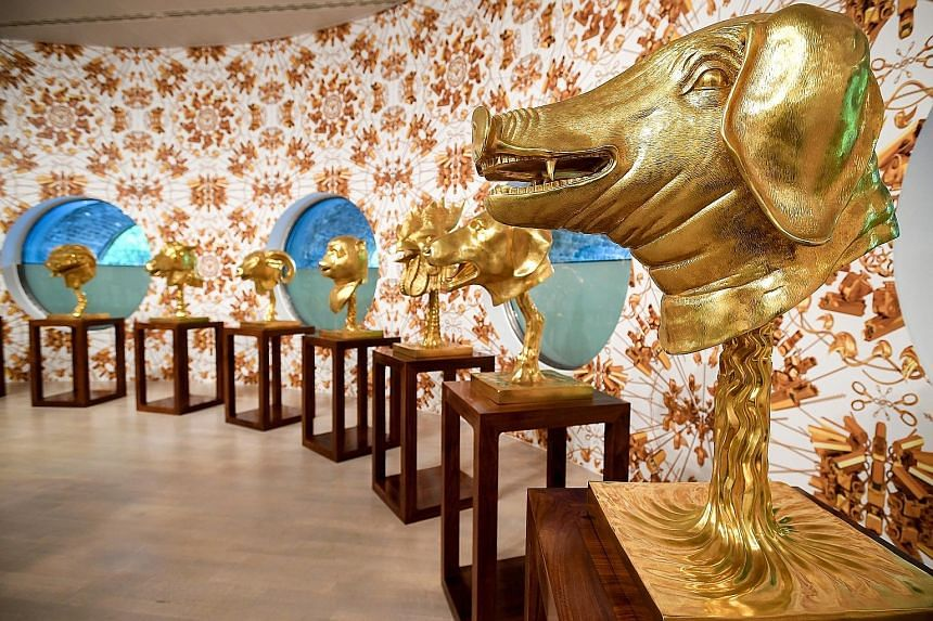 Ai Weiwei's exhibition in Dusseldorf is said to be his largest to date in Europe. The exhibits include Circle Of Animals, made of gilded bronze.