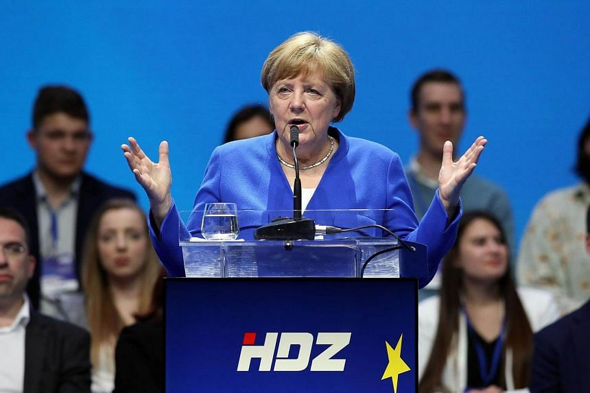 Angela Merkel's intervention followed a string of appeals from leading German politicians for voters not to follow the neighbouring country's example by putting the far right in positions of power.