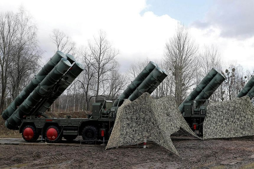 A new S-400 Triumph surface-to-air missile system after its deployment at a military base outside the town of Gvardeysk near Kaliningrad, Russia, on March 11, 2019.