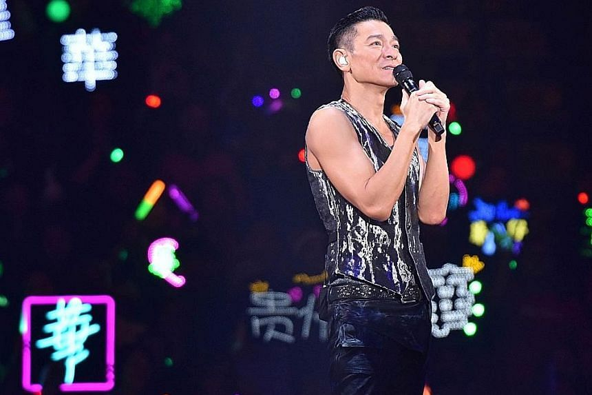 To be held in September, the four concerts by Hong Kong Heavenly King Andy Lau (above) are part of his latest My Love Andy Lau World Tour and mark his return to Singapore after 11 years.