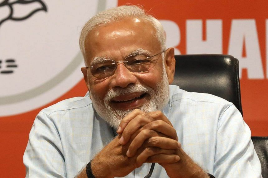 Bhartya Janta party leader Indian Prime Minister Narendra Modi addresses a press conference in New Delhi, on May 17, 2019.