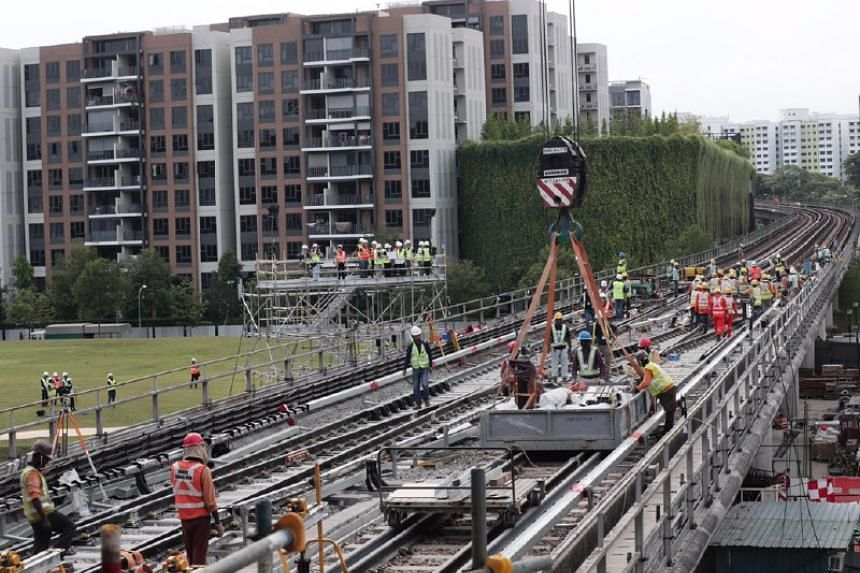 About 70 per cent of construction works at Canberra station have been completed so far.