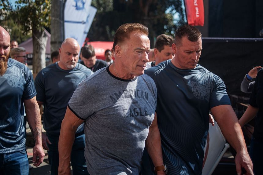 Actor Arnold Schwarzenegger at the Arnold Classic Africa, where he was attacked.