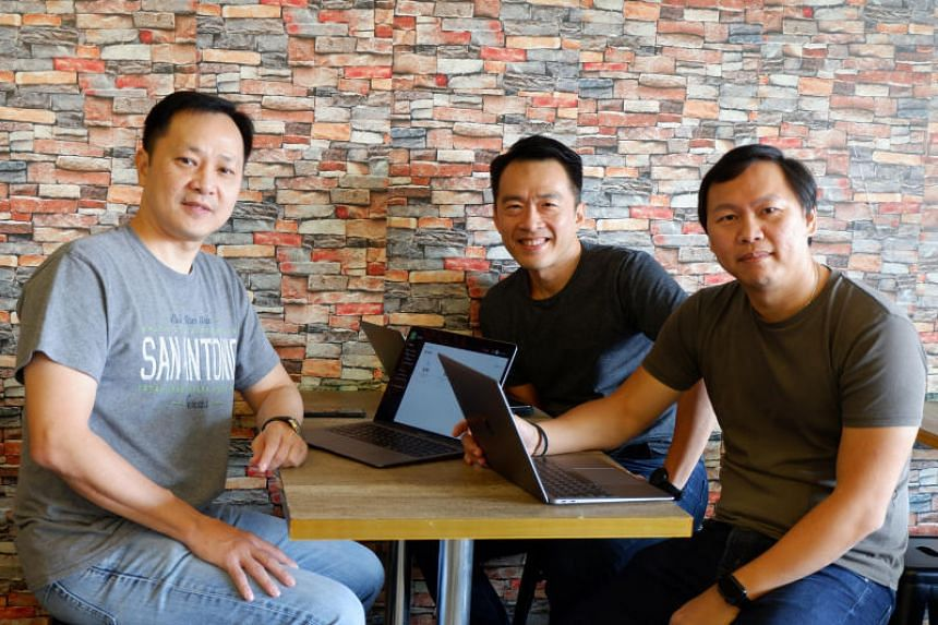 Doxa Holdings co-founders (from left) Henry Kwan, Leon Yeo and Edmund Ng all work from home, and have introduced flexible work options in their company.