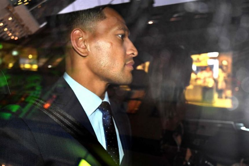 """Australia's full-back Israel Folau was found guilty of a """"high-level"""" breach for saying """"hell awaits"""" gays and others he deems sinners."""