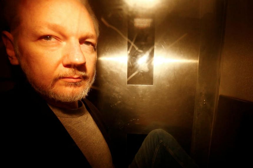 The warrant, if granted, would be the first step in a process to have Julian Assange extradited from Britain, where he is serving a 50-week sentence for skipping bail.