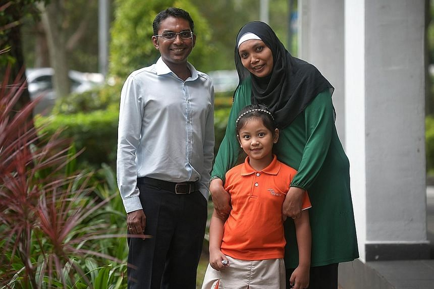 Mr Vicnesh Mathavan, a child-enabling executive at NTUC First Campus, has helped Madam Noridah Abdul Rahman with paperwork for financial aid and primary school registration, and household needs such as milk powder. Madam Noridah's daughter Nurul is i
