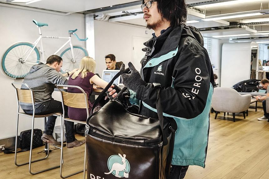 Deliveroo's network of couriers appeals to Amazon, says the writer. If the couriers are able to transport both goods from Amazon Prime Now, which promises deliveries within two hours, and Deliveroo meals, then the likelihood of downtime is reduced an