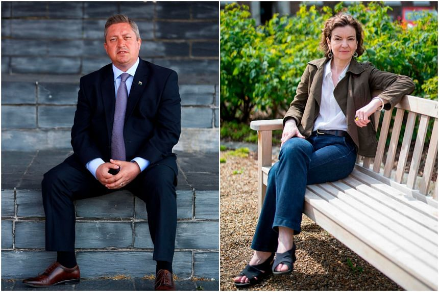 Mr James Wells (left) and Ms Jessica Simor are both candidates in the upcoming European elections, but neither has any previous political experience.