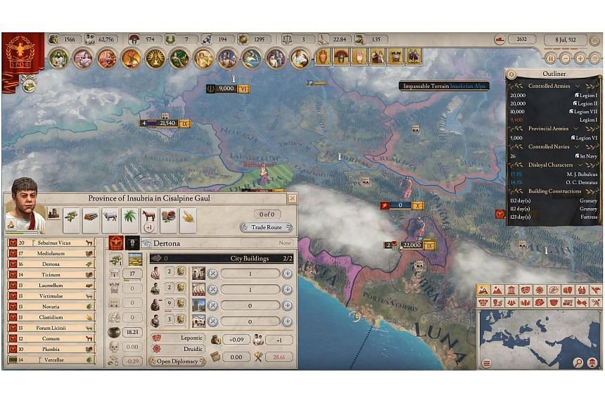 In Imperator: Rome, players control the destiny of their chosen nation.