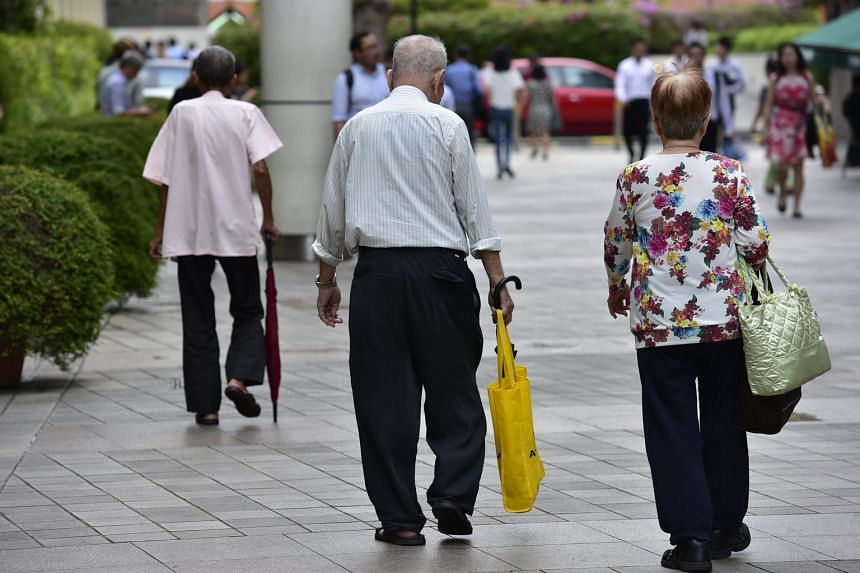 Elderly people in Toa Payoh Central.