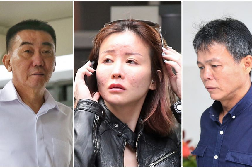Lim Hong Liang (left) was sentenced to six years' jail, while Ong Hock Chye (right) was sentenced to 5½ years' jail and six strokes of the cane for the attack on Ms Audrey Chen Ying Fang's lover.