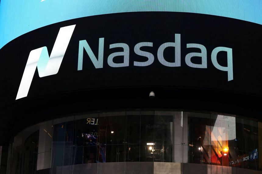 A view of the exterior of the Nasdaq market site in Times Square, New York.