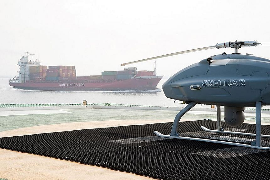 "Many ports around the world are looking at using ""sniffer drones"" to enforce new rules aimed at cutting air pollution caused by ships. PHOTO: SKELDAR"