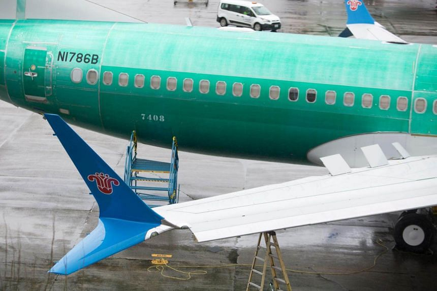 A Boeing 737 Max 8 for China Southern Airlines pictured at the Boeing Renton Factory in Washington, on March 13, 2018.