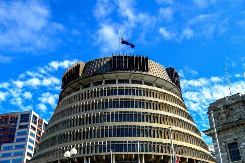The Beehive, where 120 MPs in New Zealand's parliament and thousands of other advisers, bureaucrats, media and security work at.
