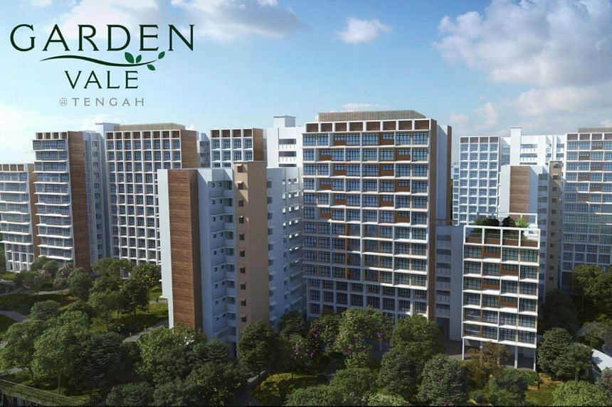 The bulk of the new flats are in a new district in Tengah - Garden District - with 2,180 units on offer. Another 987 units will be at the nearby Plantation District.