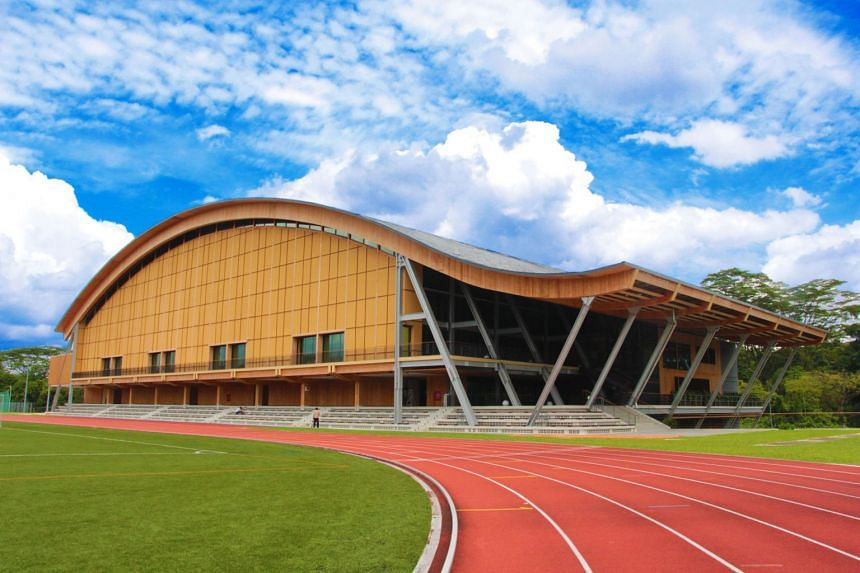 Sports hall The Wave is the first large-scale mass-engineered timber building in South-east Asia. PHOTO: NANYANG TECHNOLOGICAL UNIVERSITY