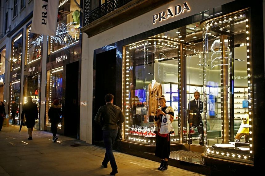 The Prada boutique in New Bond Street, London during last year's Christmas season. The fashion house announced it will stop using fur, starting with its Spring-Summer 2020 collection which launches in September 2019.