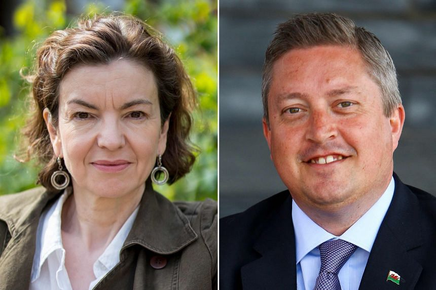 THEY WANT TO BE HEARD:  ( Left) Ms Jessica Simor, a 51-year-old lawyer, is standing for Change UK. (Right) Mr James Wells, 46, had to leave his civil service job to stand for the Brexit Party in the elections.