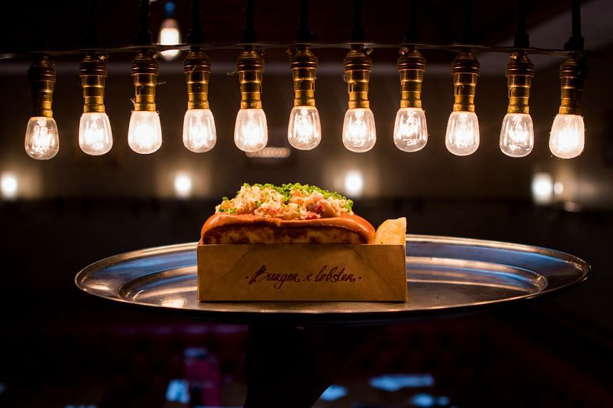 The 81-seat Burger & Lobster at Jewel has a view of the Rain Vortex and serves the London chain's famed lobster dishes.