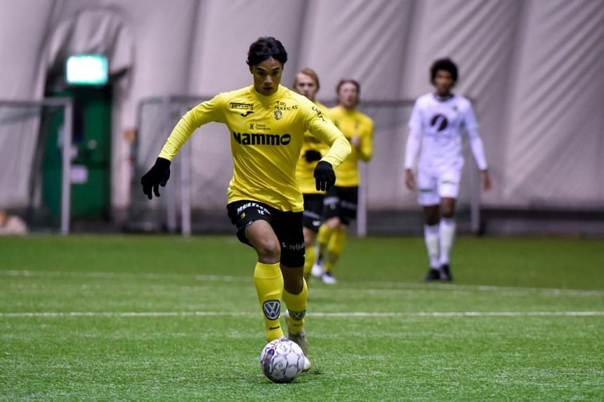 With many of the 7,000 Raufoss inhabitants now familiar with Singapore striker Ikhsan Fandi's name, it seems like the Raufoss No. 18 has taken to Norwegian football like fish to water, or like a salmon surging upstream.