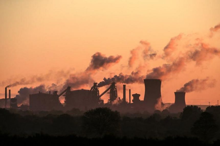 British Steel's Scunthorpe plant in northern England. The steel producer has collapsed after failing to secure emergency government funding.
