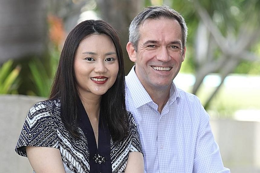 Dr Anissa Widjaja, a senior research fellow at Duke-NUS' Cardiovascular and Metabolic Disorders Programme, with Professor Stuart Cook, the programme's director. Duke-NUS Medical School, National Heart Centre Singapore and biotechnology company Enleof