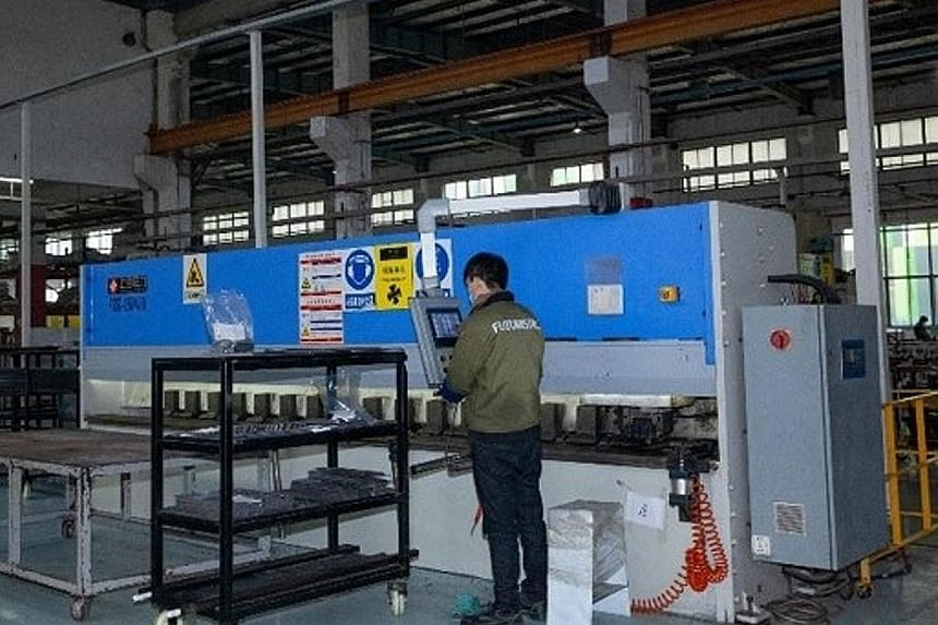 Fixtures made at Futuristic Store Fixtures' factory in Kunshan, in China, will face tariffs when shipped to clients in the US.