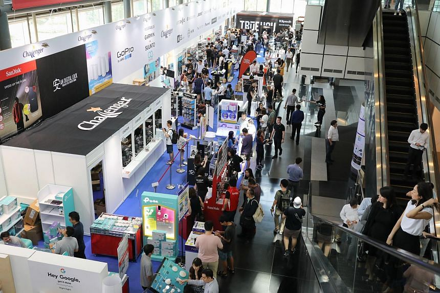 There are deals galore among the 200 or so booths that have been set up, with offers from TV monitors to mobile phone plans.