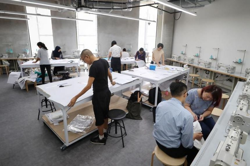 The Cocoon Space offers industrial grade sewing machines and a fabric library.