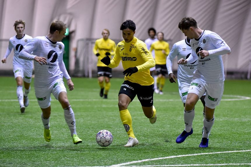 Ikhsan Fandi opened the scoring at third-tier Fram Larvik in the 33rd minute of the second-round Norwegian Football Cup tie.