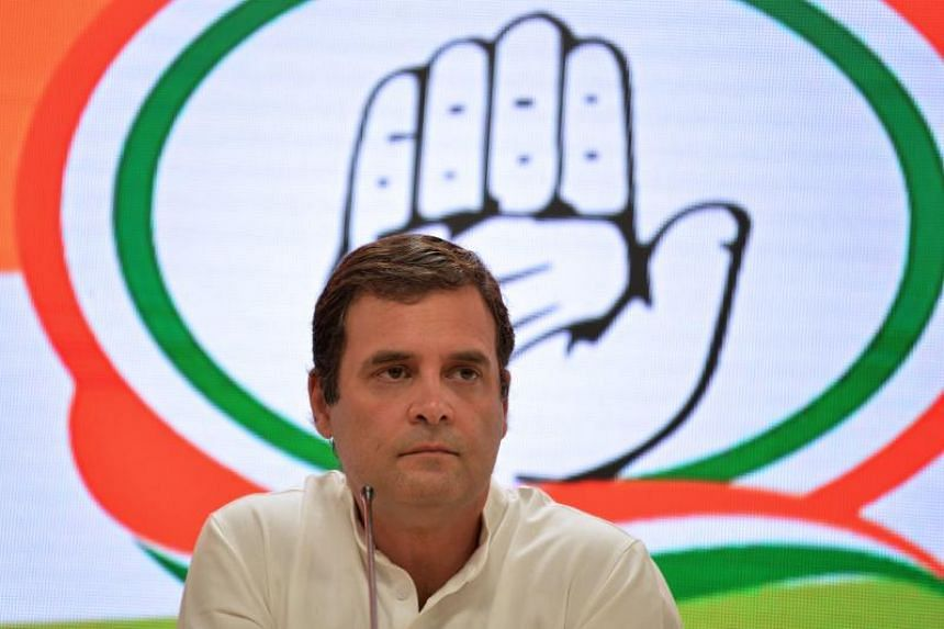 Indian Prime Minister Narendra Modi's challenger, Congress president Rahul Gandhi (above), conceded defeat at a press conference on May 23, 2019.