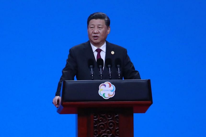 Chinese President Xi Jinping delivers his speech during the opening ceremony of the Conference on Dialogue of Asian Civilizations in Beijing, China, on May 15, 2019.