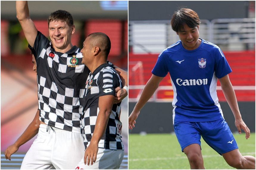 One of the key players for SPL leaders Brunei DPMM is Belarus forward Andrey Varankow (left), while Albirex Niigata will count on playmaker and skipper Kyoga Nakamura.