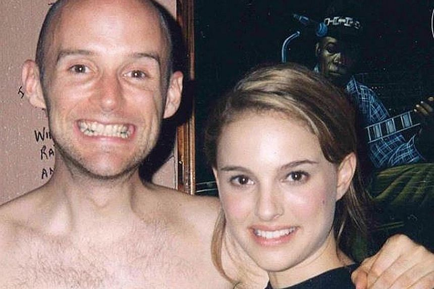 """Bad romance?: Moby has the evidence to prove his romance with Natalie Portman. In response to her denial, the 53-year-old musician has posted a photo, showing a shirtless Moby with his arm around the actress. The caption reads: """"I recently read a go"""